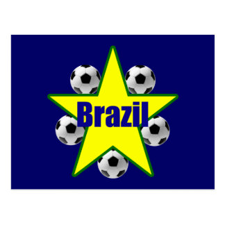 El futebol de la bola de las estrellas de fútbol d postal