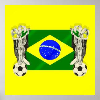 El futebol del fútbol de la samba aviva los regalo impresiones