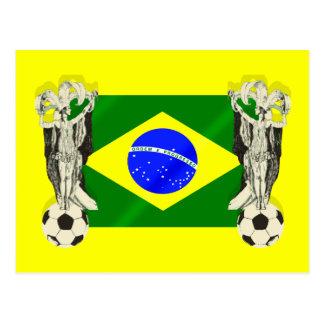 El futebol del fútbol de la samba aviva los regalo postales