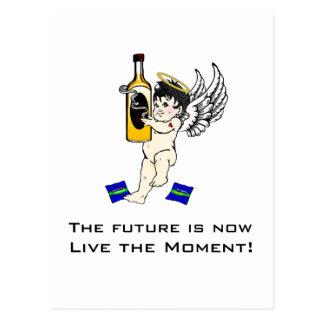 ¡El futuro ahora está, vive el momento! Tarjetas Postales