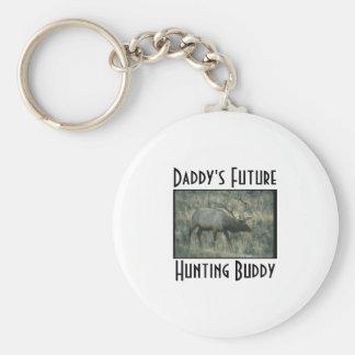 El futuro del papá, cazando al compinche llavero redondo tipo pin