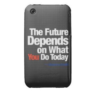 El futuro depende de lo que usted lo hace hoy funda bareyly there para iPhone 3 de Case-Mate