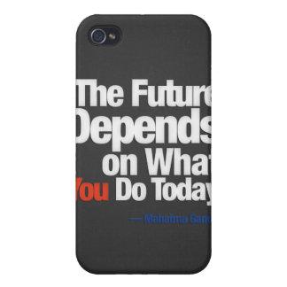 El futuro depende de lo que usted lo hace hoy iPhone 4 cárcasas