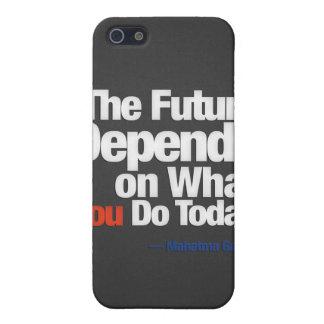 El futuro depende de lo que usted lo hace hoy iPhone 5 funda