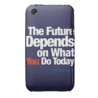 El futuro depende de lo que usted lo hace hoy funda para iPhone 3 de Case-Mate