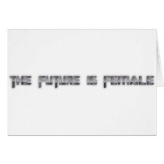 el futuro es femenino tarjeta de felicitación