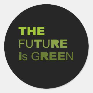 El futuro es verde etiquetas redondas