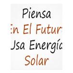 EL Futuro los E.E.U.U. Energia del En de Piensa so Membrete