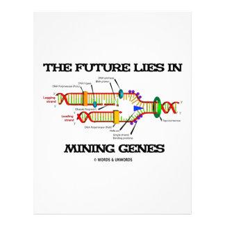 El futuro miente en los genes de la explotación membrete personalizado