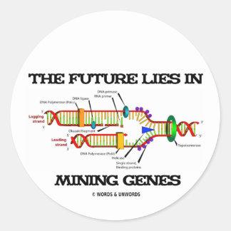 El futuro miente en los genes de la explotación pegatina redonda