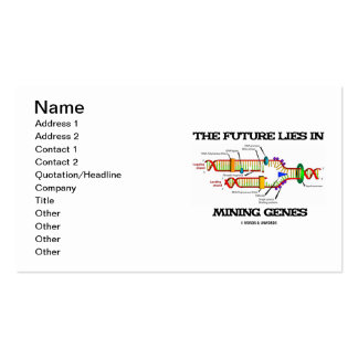 El futuro miente en los genes de la explotación tarjetas de visita
