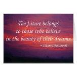 El futuro pertenece tarjetas