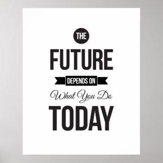 El futuro - poster inspirado blanco de la cita