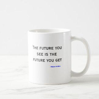 El futuro usted ve la taza