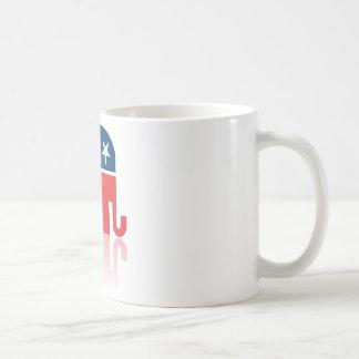 El G.O.P. moderno Mug Taza Básica Blanca