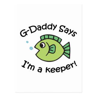 ¡El G-Papá dice que soy encargado! Postal
