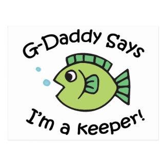 ¡El G-Papá dice que soy encargado! Tarjetas Postales