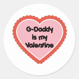 El G-Papá es mi tarjeta del día de San Valentín Pegatina Redonda