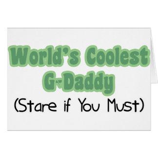 El G-Papá más fresco del mundo Tarjeta De Felicitación