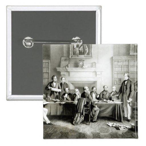 El gabinete de señor Derby de 1867, 1868 Pin