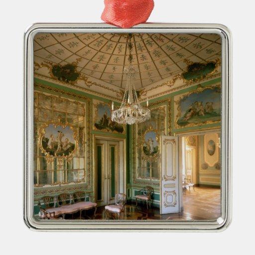 El gabinete de señora de la reina, 1774-86 adorno navideño cuadrado de metal