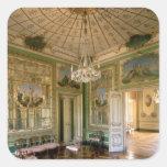 El gabinete de señora de la reina, 1774-86 pegatina cuadrada