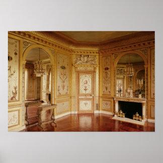 El gabinete de señora de Marie-Antonieta adornó en Poster