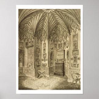El gabinete, grabado por T. Morris, de 'Descript Póster