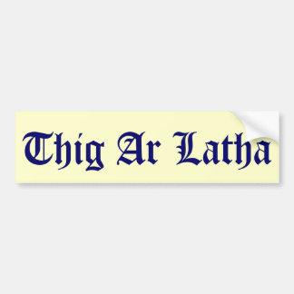 El gaélico de Thig AR Latha nuestro día vendrá peg Pegatina De Parachoque