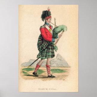 El gaitero escocés póster
