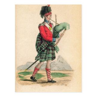 El gaitero escocés tarjeta postal