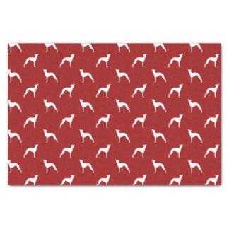 El galgo italiano siluetea rojo del modelo papel de seda pequeño