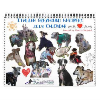 El galgo italiano susurra el calendario 2014