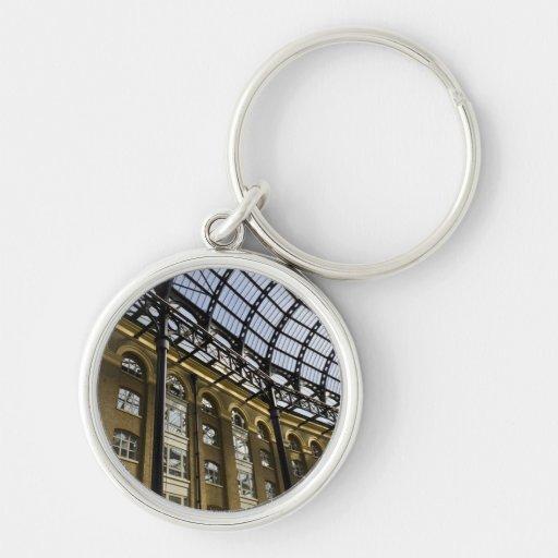 El Galleria Londres del heno Llaveros Personalizados