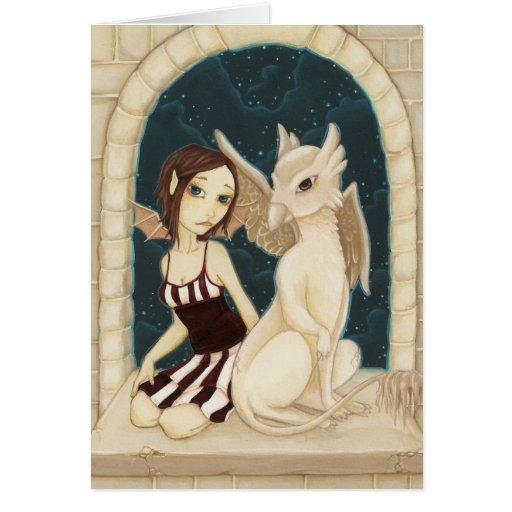 El gallinero del Gargoyle - tarjeta de hadas del g