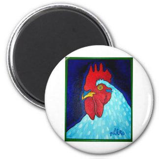 El gallo de Natley por Piliero Imán Redondo 5 Cm
