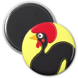 el gallo de Portugal Imán Redondo 5 Cm