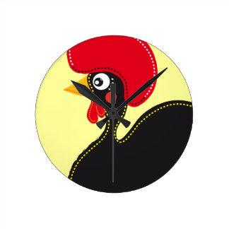 el gallo de Portugal Reloj Redondo Mediano