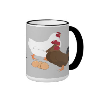 El gallo del pollo Eggs las tazas de café