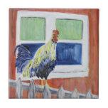 """El gallo """"muestra apagado"""" la teja"""