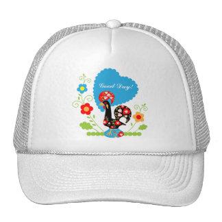 El gallo portugués de la suerte gorra