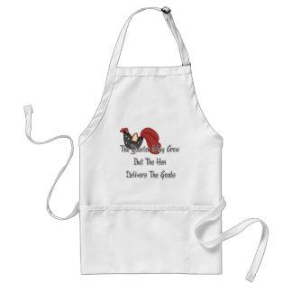 El gallo puede cantar delantal