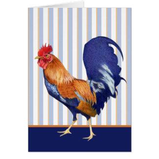 El gallo raya la tarjeta