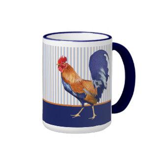 El gallo raya la taza