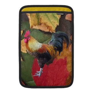 El gallo sale de la manga del carrito funda para macbook air