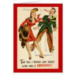 ¡El galón era un golpe de gracia! Vintage Felicitaciones