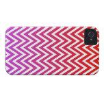 El galón púrpura rojo del ombre raya la caja del i Case-Mate iPhone 4 cobertura