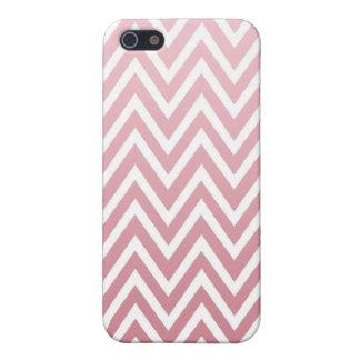 El galón rosado polvoriento del ombre raya la caja iPhone 5 protectores