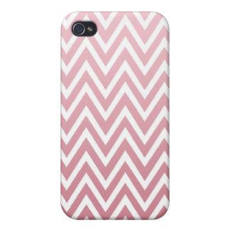 El galón rosado polvoriento del ombre raya la caja iPhone 4 protectores