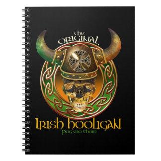 El gamberro irlandés negro original libro de apuntes con espiral